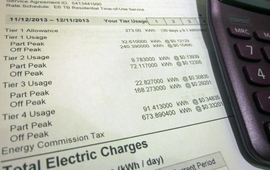 Electricbillbreakdown