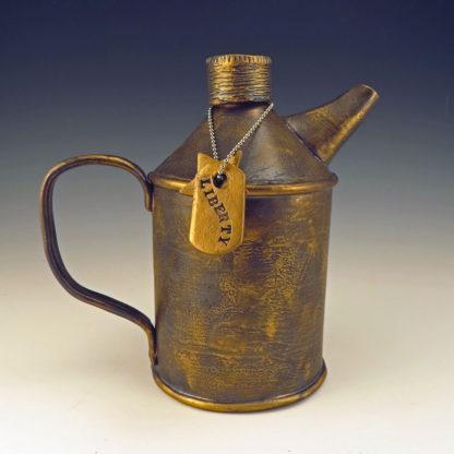 Ceramic Tea Can with Liberty dogtag