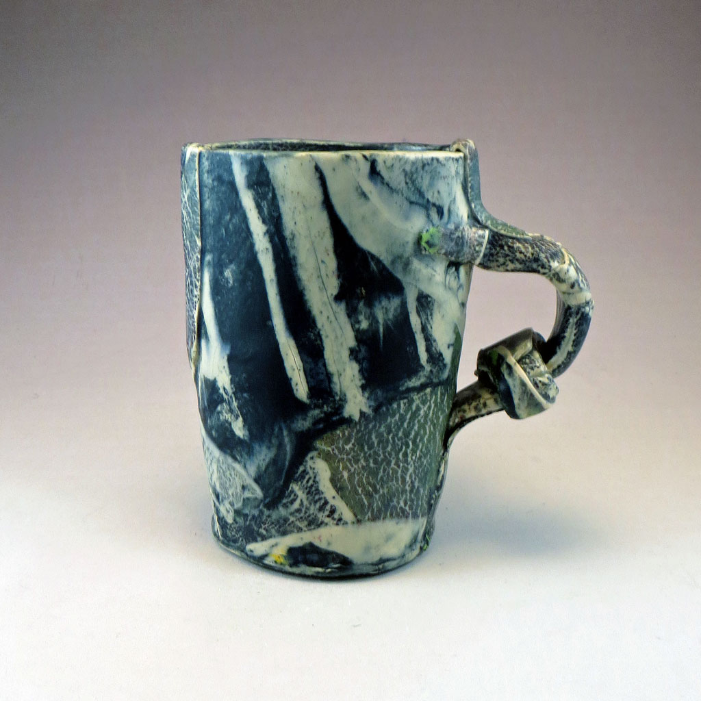 Soft Slab Strata Mug On Ale Liz Crain Ceramics