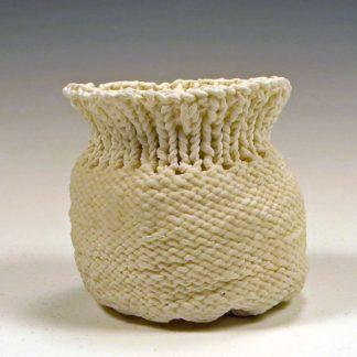 knitted porcelain bag