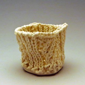 spiral rib knitted porcelain small cup