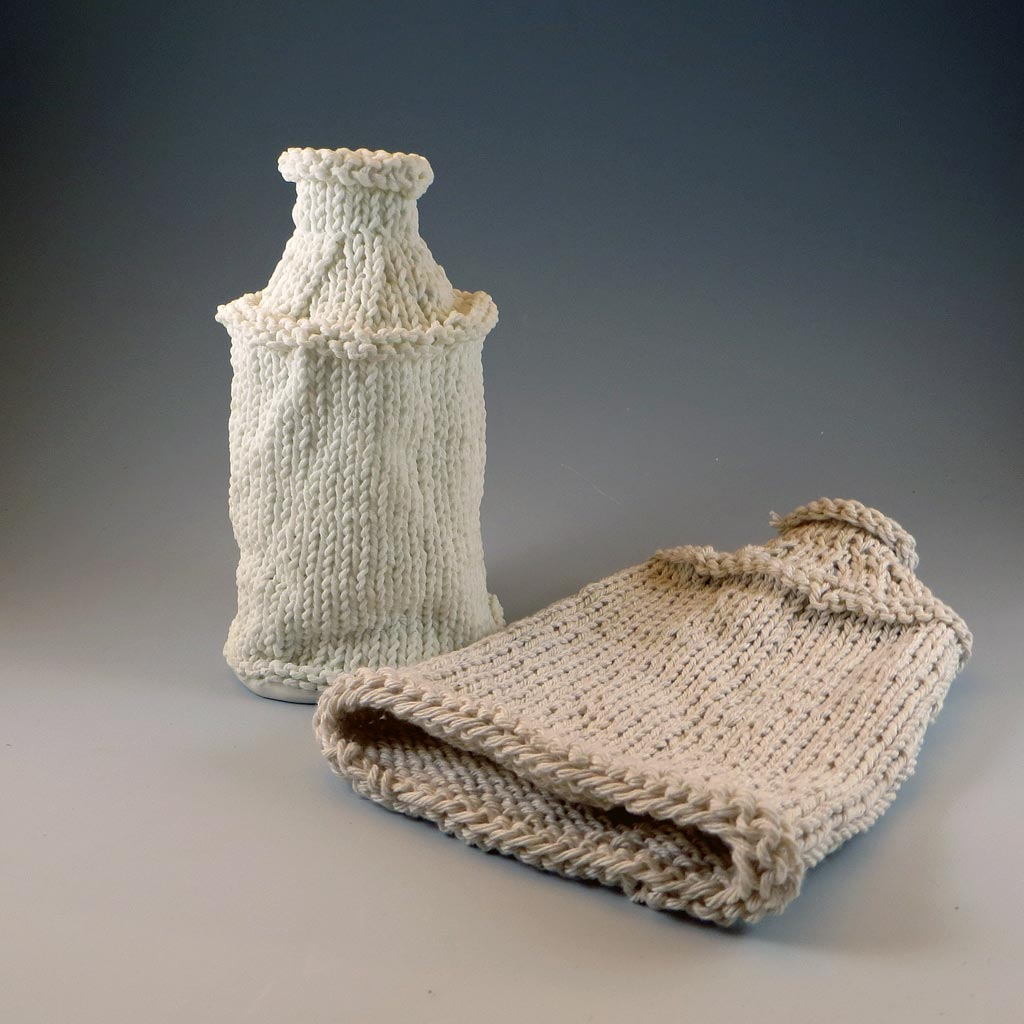 Knitted Porcelain and Kitchen Twine