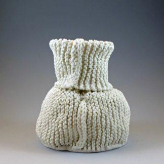 knitted porcelain vase