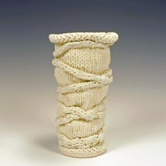 knitted porcelain vase