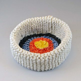 Knitted Porcelain Target Bowl