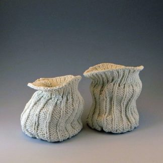 knitted porcelain bags