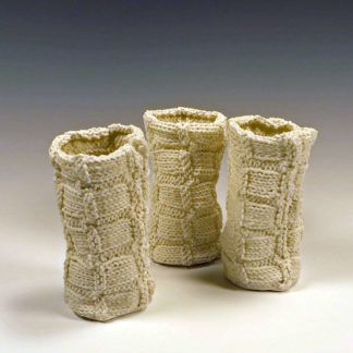 Bamboo Stitch Knitted porcelain cups