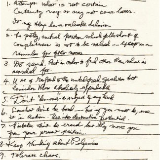 Diebenkorn Notes to Myself