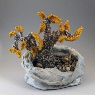 Clay and fiber Bonsai tree