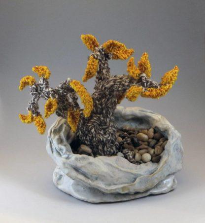 Clay and fiber Bonsai tree
